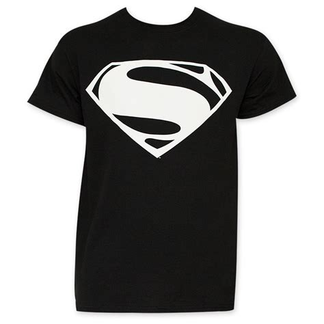 Tshirt Supermen White batman v superman black and white superman logo shirt