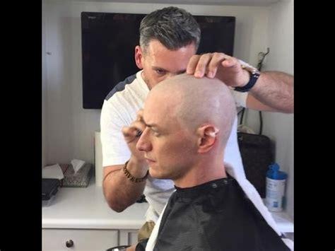 james mcavoy xmen contract james mcavoy shaves head for x men apocalypse youtube