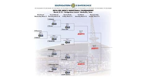 section 4 basketball schedule sec men s basketball tournament bracket 2016 wbma