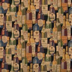 and italian wine bottles themed tapestry upholstery