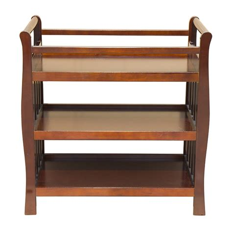 Sleigh Change Table Baby Sleigh Change Table Wooden 3 Tier Change Table Walnut