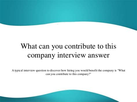 What Can You Do With Md Mba by What Can You Contribute To This Company Answer