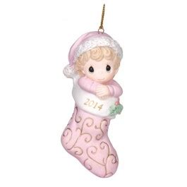 precious moments dated 2014 baby girl first christmas ornament