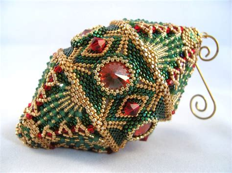 pattern tutorial beaded christmas ornament