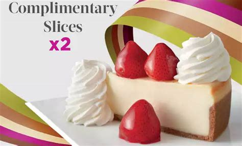Free Fast Food Gift Cards - cheesecake factory free 2 slices cheesecake with 25 gift