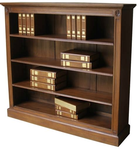 low wide 3 shelf bookcase bcs030 lock stock barrel