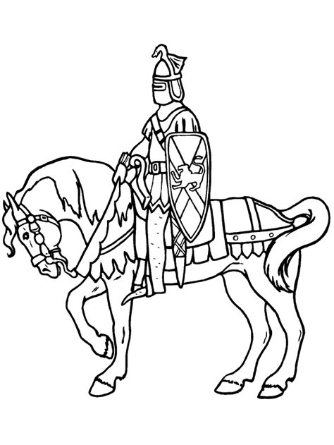 Coloring Page Knights Coloring Pages 17 Knights Colouring Pages