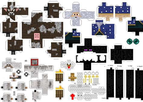 Minecraft Papercraft Animal Mobs - minecraft papercraft mini mobs minecraft