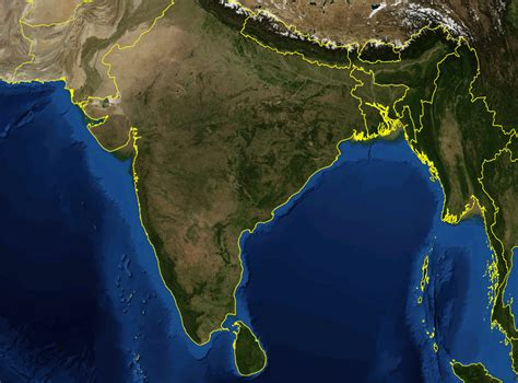 satellite view map india satellite image mapsof net