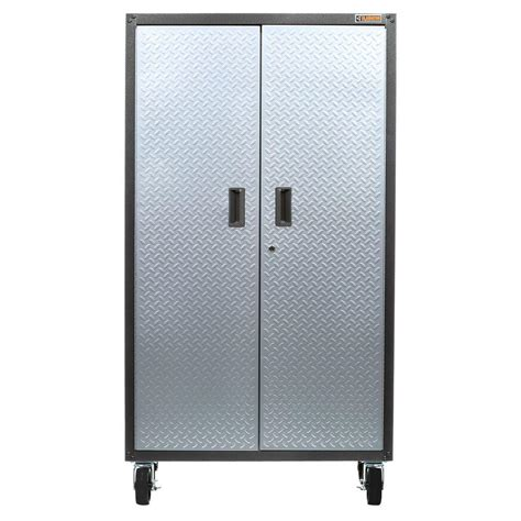 rolling garage storage cabinet gladiator ready to assemble 66 in h x 36 in w x 18 in d