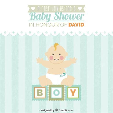 Per Baby Shower Invitation by Baby Shower Invitation Scaricare Vettori Gratis