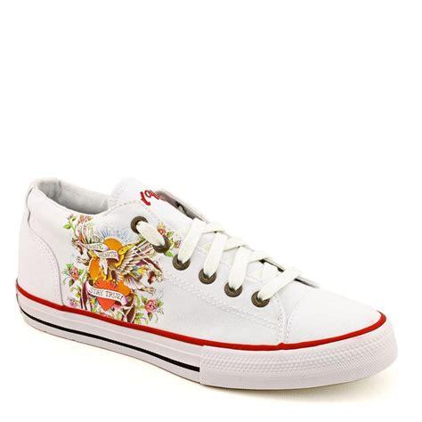 hardy mens sneakers ed hardy white lenai lowrise sneaker for ebay