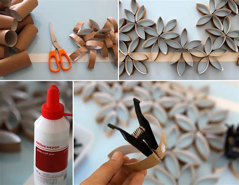 Toilet Paper Roll Flowers Craft - how to make toilet paper roll flowers diy crafts
