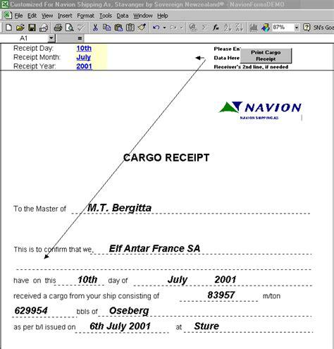 Forwarders Cargo Receipt Template by Forwarders Cargo Receipt