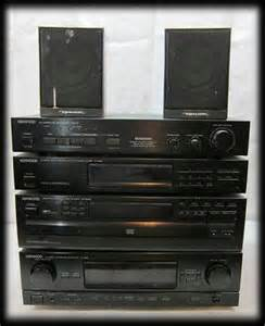 7 pc kenwood home stereo system cd player tuner ad
