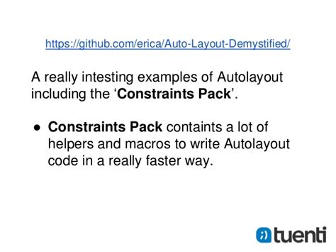 auto layout presentation tuenti autolayout workshop