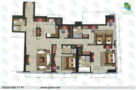 the gate tower 2 floor plans