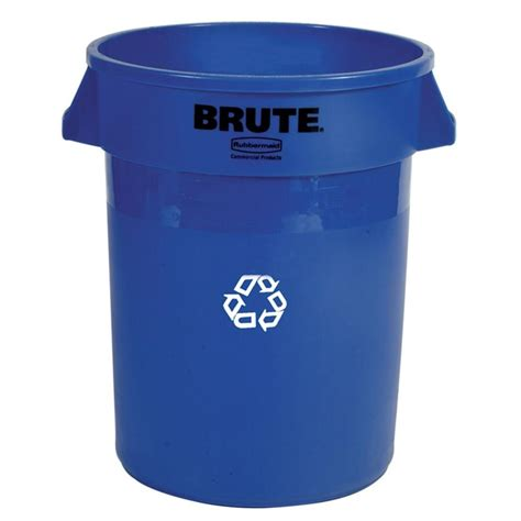 rubbermaid commercial products 20 gal blue recycling