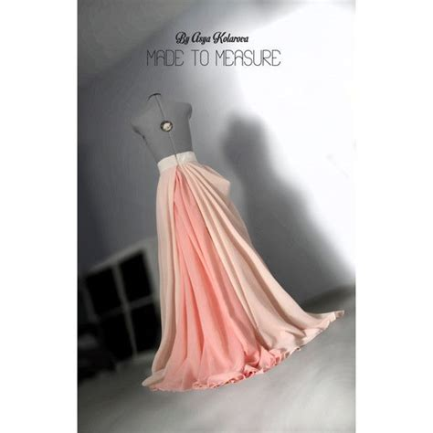 Dress White Tulle Flow chiffon maxi circle skirt wedding gown blush flowing dress liked on polyvore