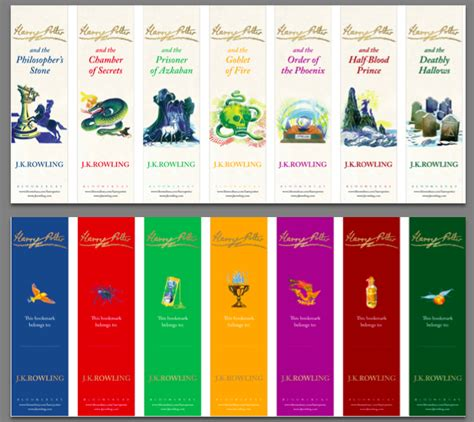printable bookmarks harry potter 80 free printable bookmarks to make tip junkie