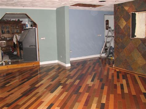 Painted Hardwood Floors with Elegant Impression   Traba Homes