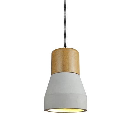 Wood Pendant Lighting Modern Cement And Wood Cap Pendant Lighting 11976 Browse Project Lighting And Modern Lighting