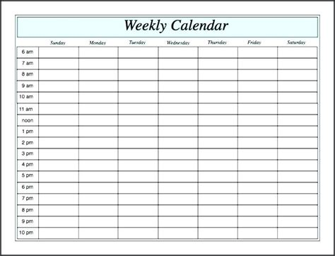 hourly appointment calendar template free hourly appointment calendar template free template