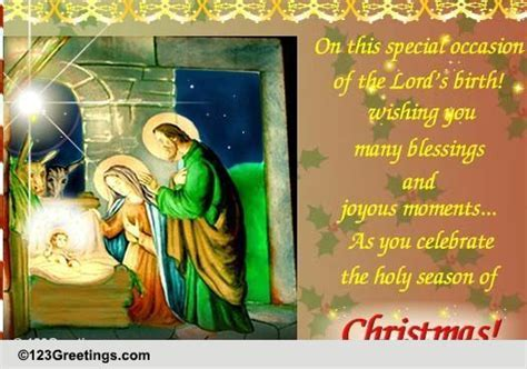 Many Blessings At Christmas! Free Orthodox Christmas