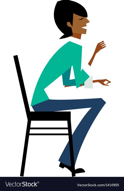 chair side view vector side view of sitting on chair royalty free vector image