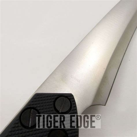 thick machete 19 quot thick blade tang rubber handle tanto