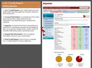 equifax 3 bureau monitoring with credit score