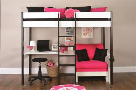 Bunk Bed With Desk And Futon Chair Bunk Beds Stompa Uno Wooden High Sleeper With Futon