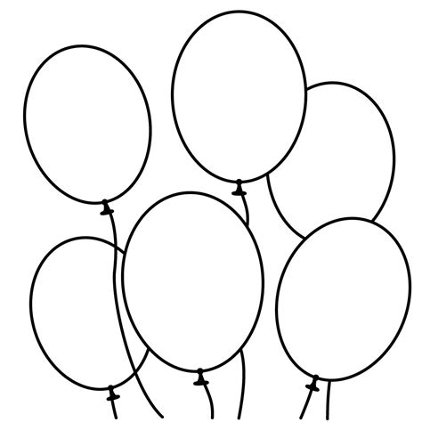 coloring pictures of birthday balloons snowmen clipart black and white google search stencils