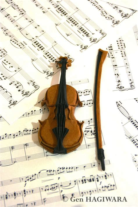 Violin Papercraft - origami violin by h on deviantart