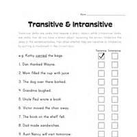 transitive and intransitive verbs worksheets cockpito