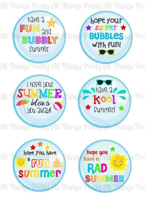 printable end of year gift tags instant download summer tags end of school year