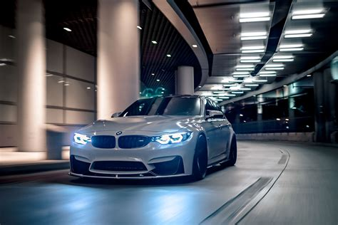 wallpaper bmw  night led headlights hd automotive