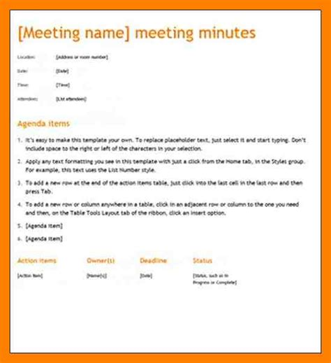 writing up minutes template 9 how to write minutes of meetings templates emt resume