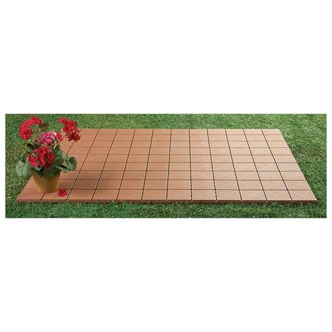 Interlocking Patio Pavers 24 Interlocking Patio Pavers 12 Quot X 12 Quot Set 236501 Yard Garden At Sportsman S Guide