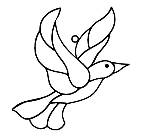 pattern drawing bird bird template printable az coloring pages
