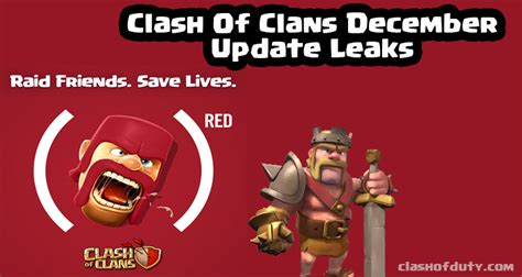 clash of duty gamers paradise tech news you can get clash of clans december update leaks 2016 with red event