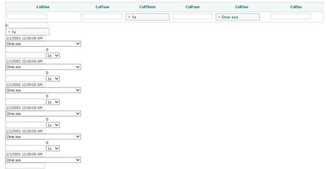 Jquery Add Row To Table by Row Column Alignment When Dynamically Adding Rows To A