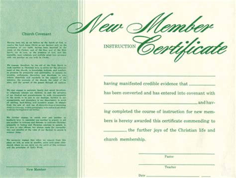 new member certificate template new member certificate parable christian stores