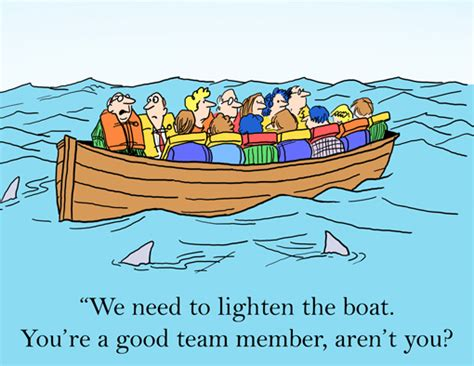 broken boat cartoon cartoon of the month lighten the boat