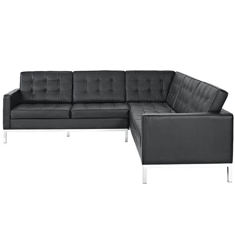 Bateman Leather L Shaped Sectional Sofa Modern Furniture L Shaped Leather Sectional Sofa