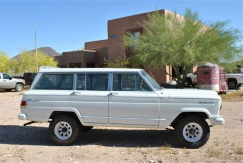 classic jeep wagoneer lifted buy used 1967 jeep wagoneer with 4 quot lift kit white 327