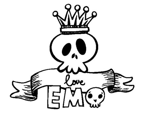 coloring pages emo love love emo coloring page coloringcrew com
