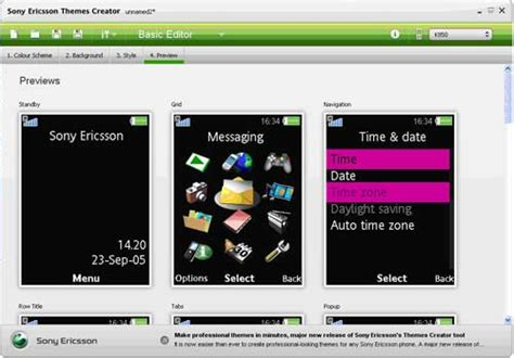sony theme creator apk sony ericsson enables users to create personalized themes