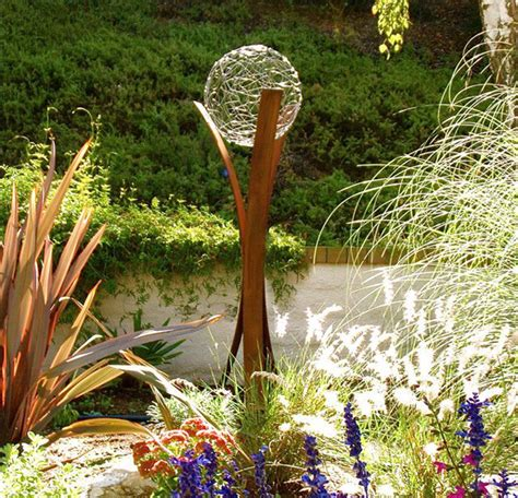 15 pretty and glowing garden gazing balls home design and interior