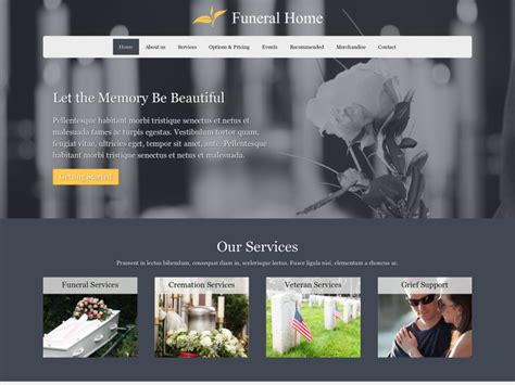 beautiful funeral home website design contemporary